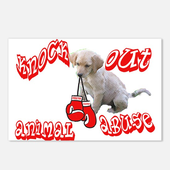 Knock Out Animal Abuse Postcards (Package of 8)