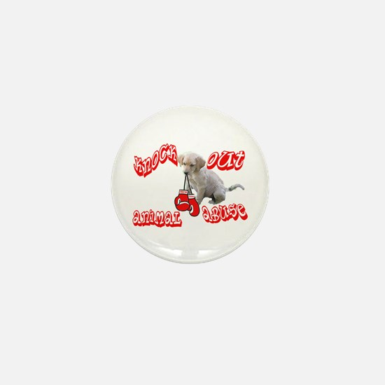 Knock Out Animal Abuse Mini Button