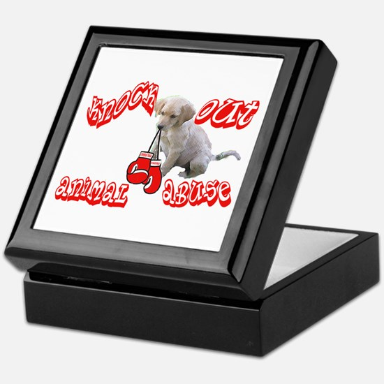 Knock Out Animal Abuse Keepsake Box