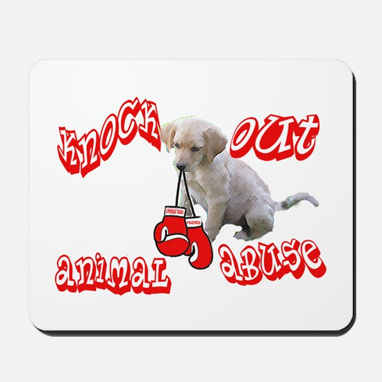 Knock Out Animal Abuse Mousepad
