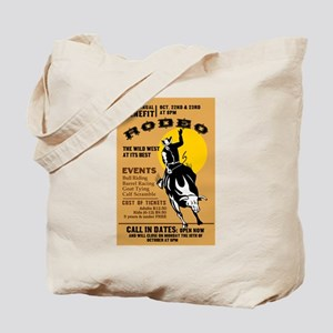 rodeo cowboy riding Tote Bag