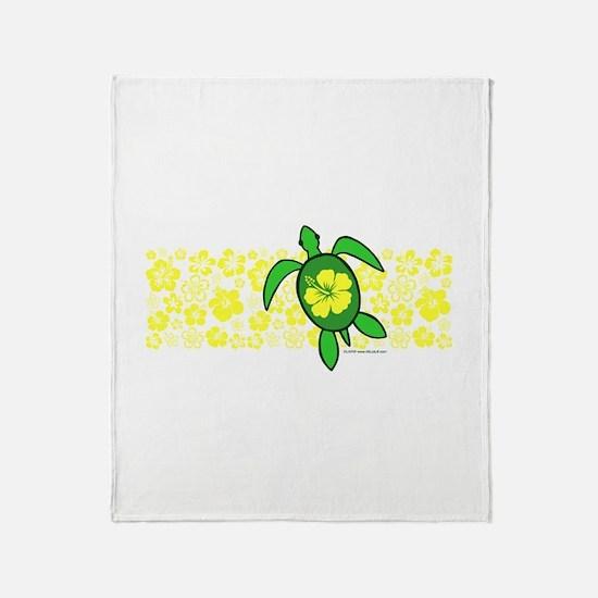Hawaii Turtle Throw Blanket