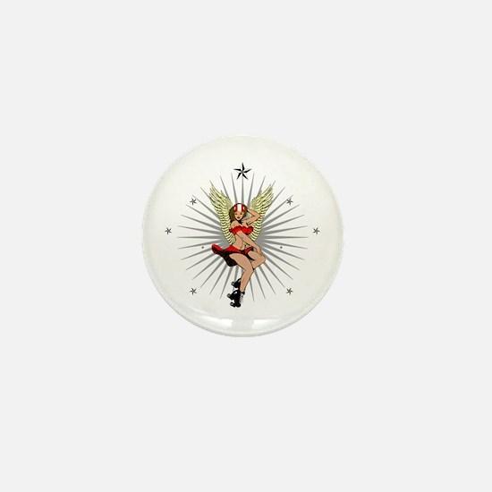 ROLLER DERBY GIRL Mini Button