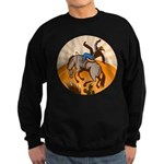 cowboy riding horse Sweatshirt (dark)