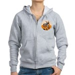 cowboy riding horse Women's Zip Hoodie