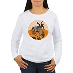 cowboy riding horse Women's Long Sleeve T-Shirt