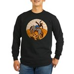 cowboy riding horse Long Sleeve Dark T-Shirt