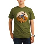 cowboy riding horse Organic Men's T-Shirt (dark)