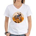 cowboy riding horse Women's V-Neck T-Shirt
