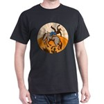 cowboy riding horse Dark T-Shirt