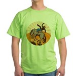 cowboy riding horse Green T-Shirt