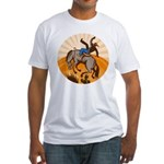 cowboy riding horse Fitted T-Shirt