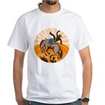 cowboy riding horse White T-Shirt