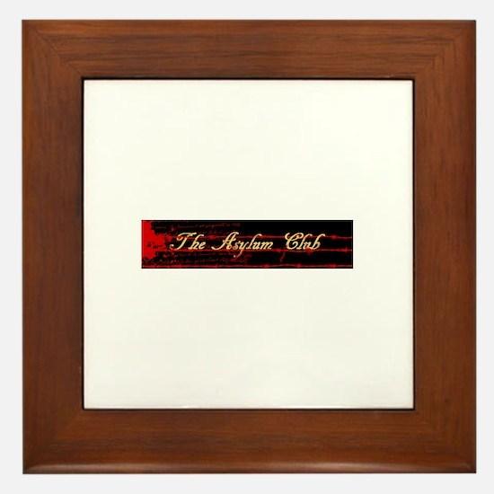 The Asylum Club Framed Tile