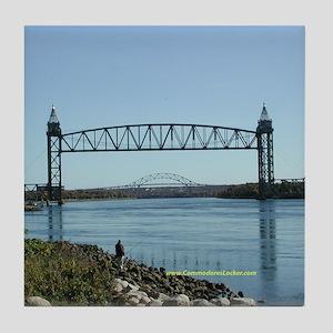 Cape Cod Canal Bridges Tile Coaster