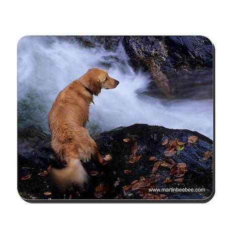 Golden Retriever and River Mousepad