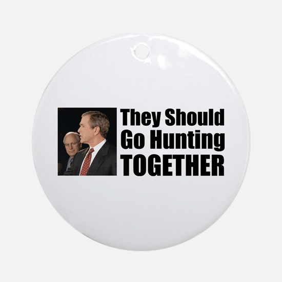 Hunting Together Ornament (Round)
