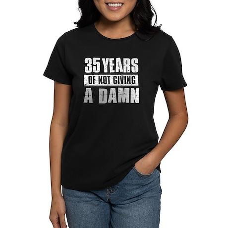 35 years of not giving a damn Women's Dark T-Shirt