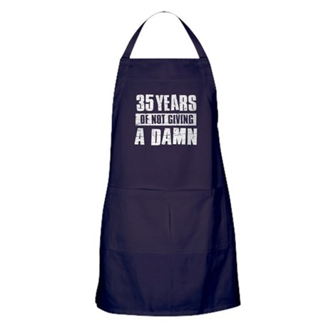 35 years of not giving a damn Apron (dark)