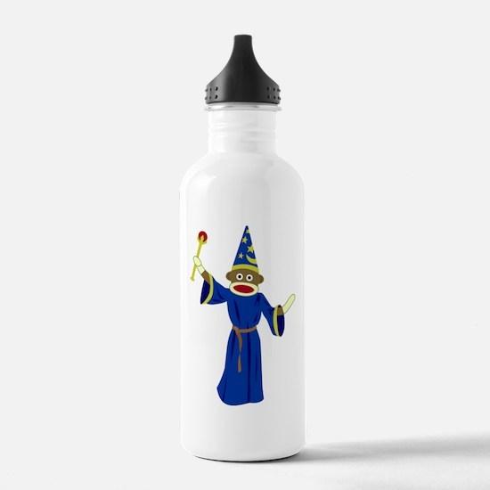 Sock Monkey Wizard Water Bottle
