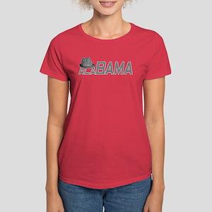 Alabama Houndstooth Hat Women's Dark T-Shirt