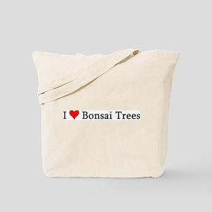 I Love Bonsai Trees Tote Bag