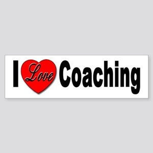 I Love Coaching Bumper Sticker