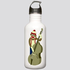 Sock Monkey Bass Player Stainless Water Bottle 1.0