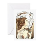 Alphonse Mocha Greeting Card