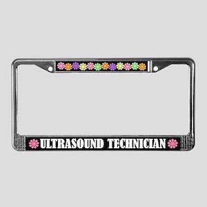 Ultrasound Technician License Plate Frame
