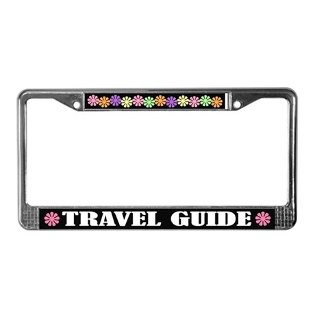Travel Guide License Plate Frame