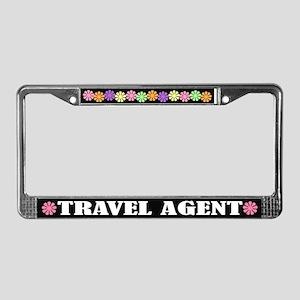 Travel Agent License Plate Frame