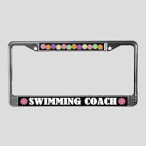 Swim Coach License Plate Frame