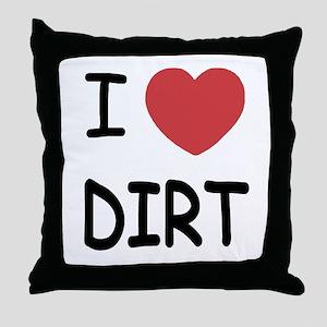 I heart dirt Throw Pillow