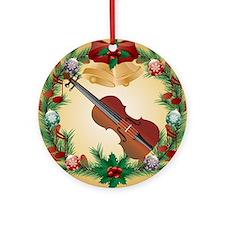 Violin Holiday Christmas Ornament