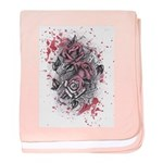Painted Roses Infant Blanket
