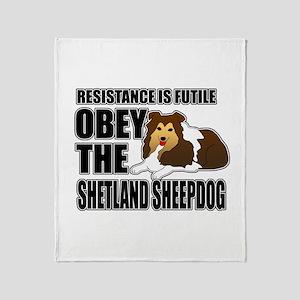 Shetland Sheepdog Throw Blanket
