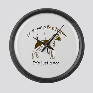 Smooth Fox Terrier Large Wall Clock