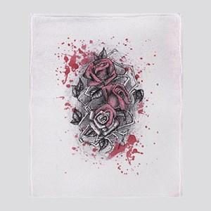 Painted Roses Throw Blanket