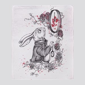 White Rabbit Throw Blanket