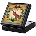 Violin Christmas Music Keepsake Box