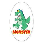 Monster Oval Sticker
