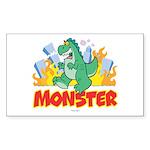 Monster Rectangle Sticker