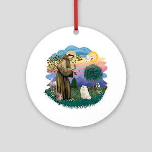 St Fran. (ff) - White Persian Ornament (Round)