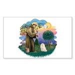 St Fran. (ff) - White Persian Sticker (Rectangle 1