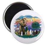St Francis (ff)-7 Cats Magnet