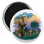 St Fran (ff) - Brown Tabby Cat Magnet