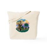 St Fran (ff) - Brown Tabby Cat Tote Bag