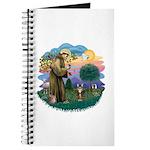 St Fran (ff) - Brown Tabby Cat Journal