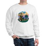 St Fran (ff) - Brown Tabby Cat Sweatshirt